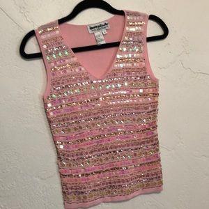 Joseph A Pink Knit Top